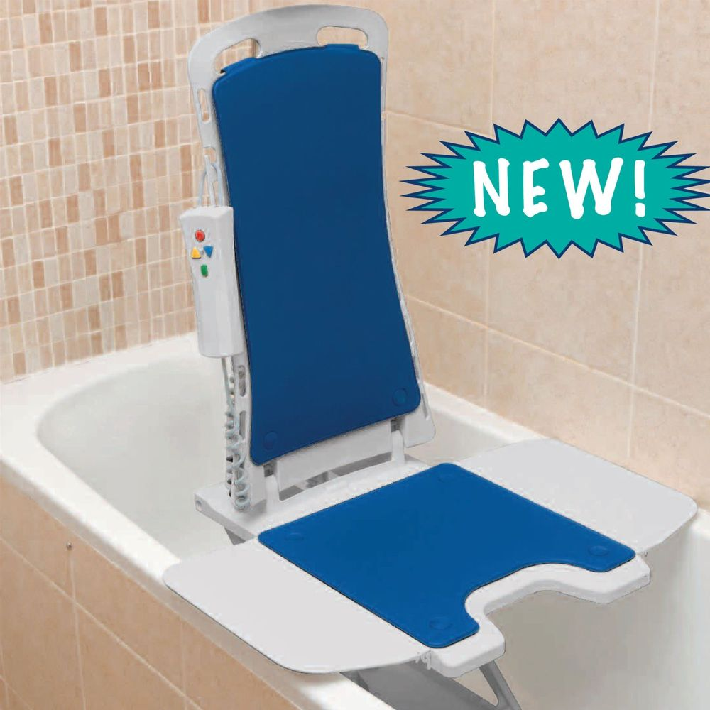 Drive Medical Blue Whisper Ultra Quiet Bathtub Lift - Super Easy to Use!