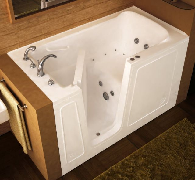 8 ways to make a bathroom safer for seniors for Sit down shower tub