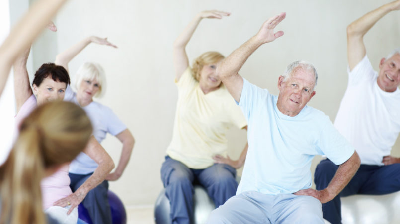 Simple back exercises for seniors
