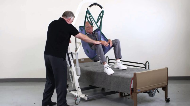 how to lift a patient with a hoyer lift