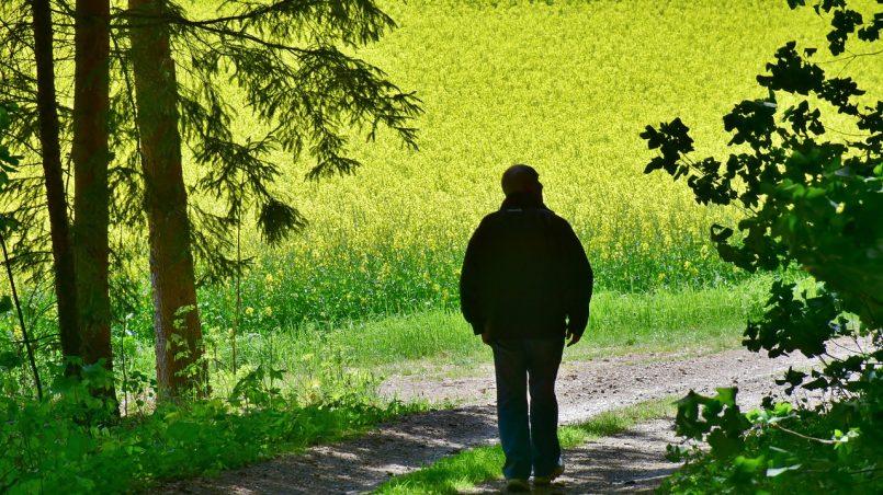 senior walking