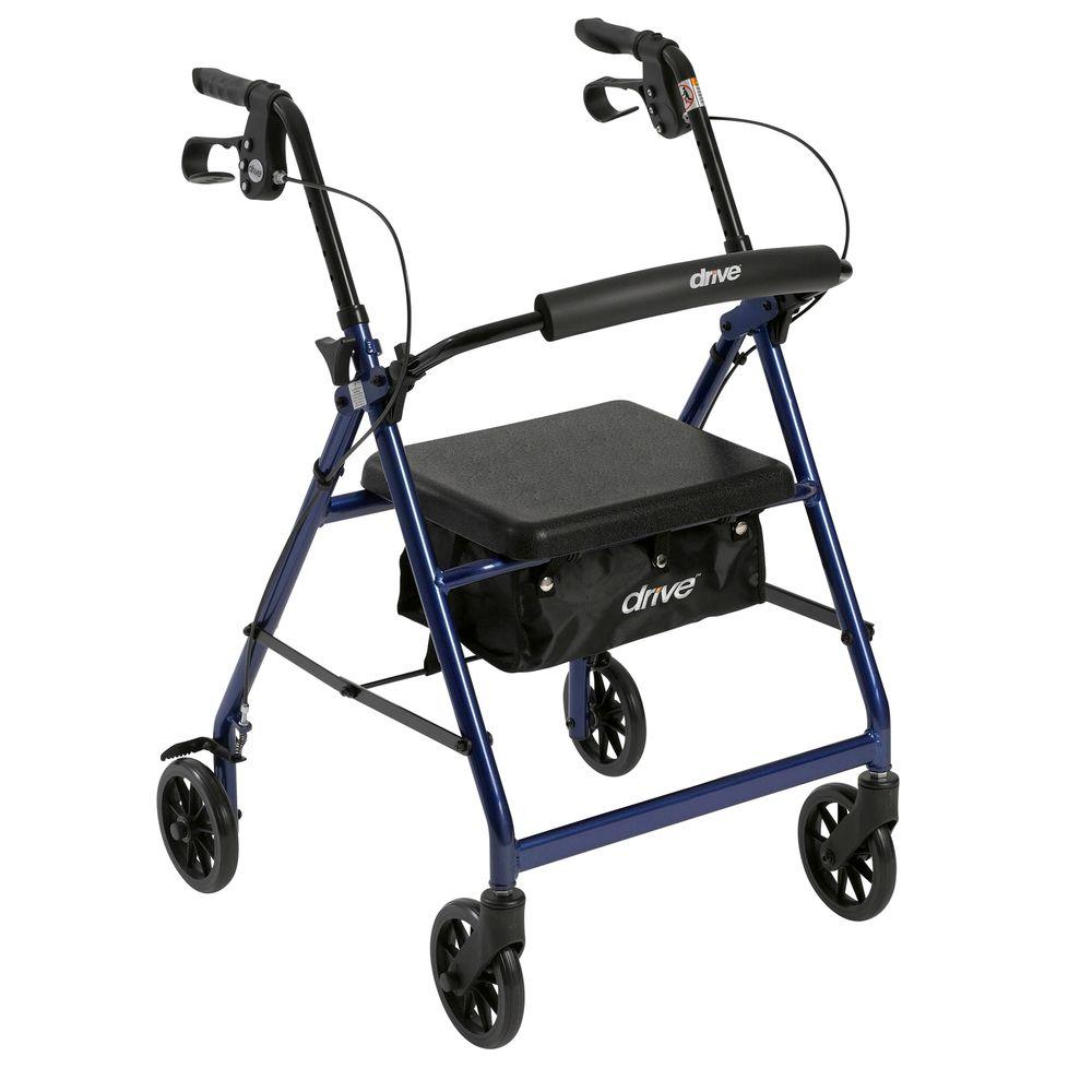 Drive Medical Aluminum Rollator Fold Up