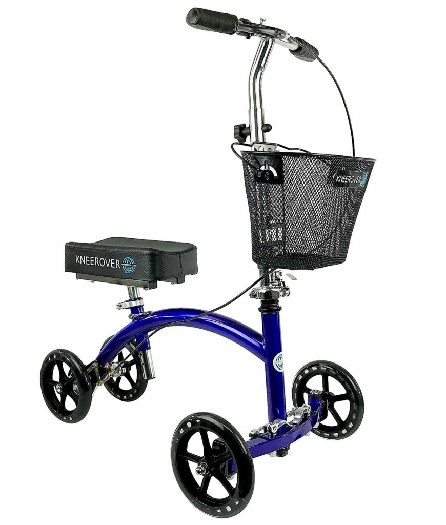 KneeRover Deluxe Steerable Knee Cycle Knee Walker Scooter - Best inexpensive knee walker crutch alternative