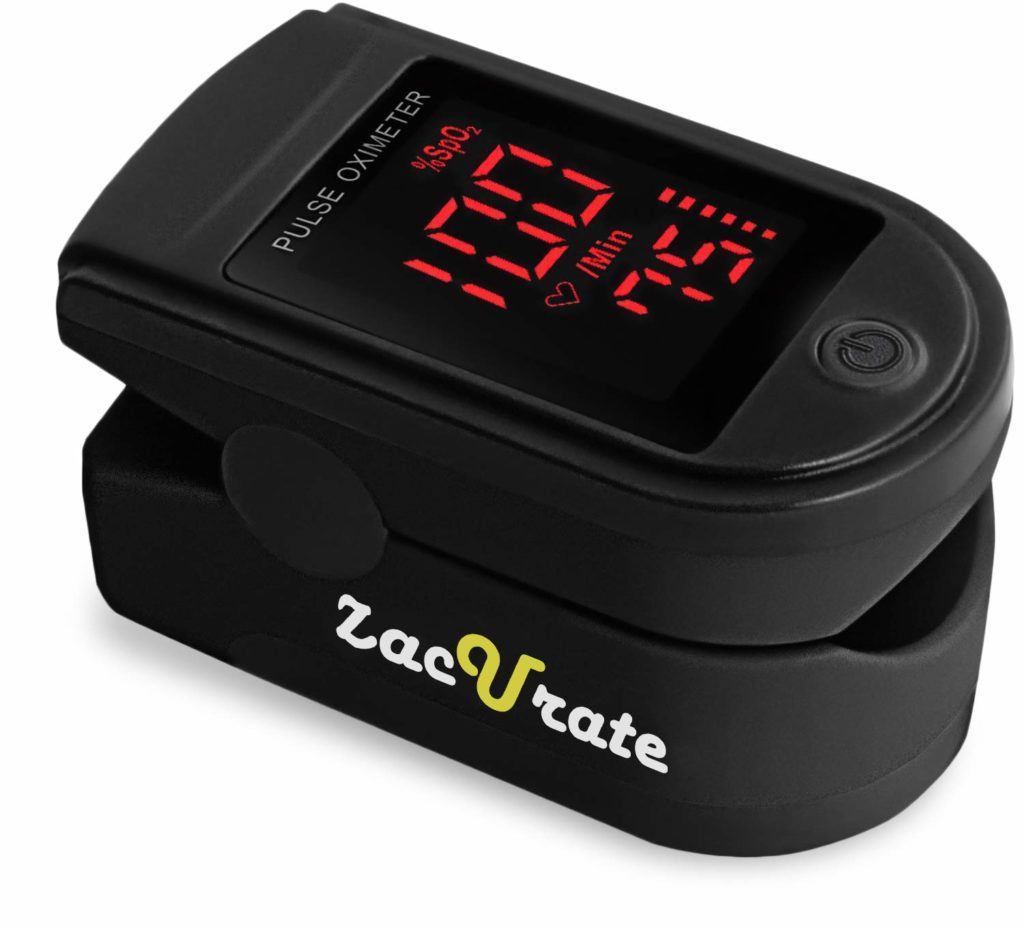 Zacurate Pro Series 500DL Fingertip Pulse Oximeter Blood Oxygen Saturation Monitor