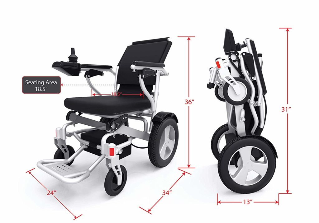 Sentire Med Forza D09 Deluxe Fold Foldable Power Compact Mobility Aid Wheel Chair