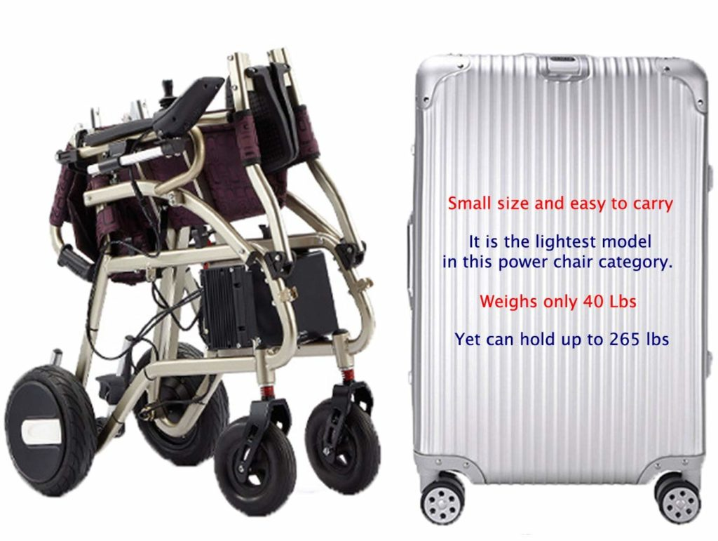 ComfyGO Exclusive Deluxe Electric Wheelchair Motorized Foldable