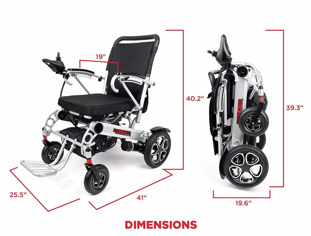 Porto Mobility Ranger X6 Portable Premium Power Wheelchair, Aerospace Aluminum Crafted Design Foldable Super Lightweight Dual Motor Airplane Ready Folding Electric Wheelchair