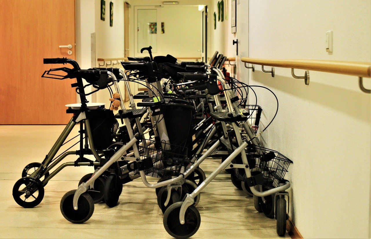 rollators parked