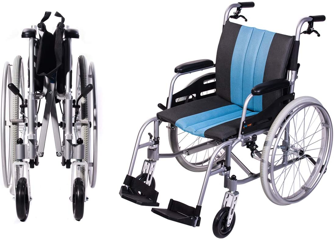 Hi-Fortune Wheelchair 21lbs Lightweight Self-propelled Manual Wheelchair