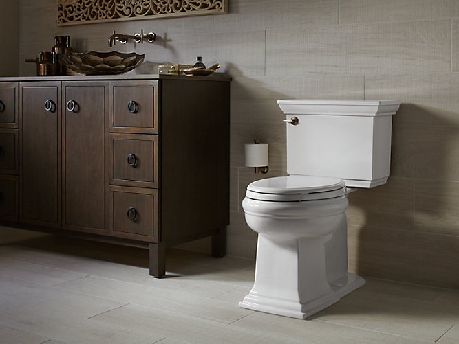 kohler raised toilet for the elderly